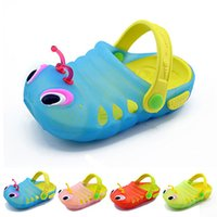 Wholesale Slipper Caterpillar - New 2017 Kids Cute caterpillar garden shoes summer sandals Child boys and girls baby sandals indoor slippers slip Bebe Sapatos