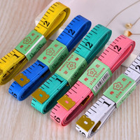 Wholesale 150CM PVC Material Sewing Machine Body Measuring Tape Cloth Sewing Ruler And Tailor Of Tape Measure Inch Body Tape
