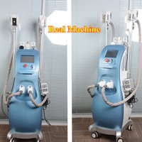 Wholesale Cellulite Reduction Equipment - 3 fat freezing handle Ultrasonic Vacuum cellulite reduction lipo laser weight loss salon equipment fat freezing beauty machine