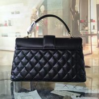 Wholesale Celebrity Brand Handbags - Free Shipping!Fashion Brand Clutches Genuine Leather Lambskin Evening Bag Quilted Hasp Celebrity Leather Bag Brands Women Handbag 1262