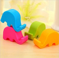 Wholesale Elephant Phone Stand - Factory direct sales elephant phone stand mini multi - color mobile phone racks lazy mobile phone stand gifts