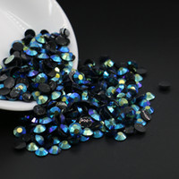 Wholesale Hotfix 3mm - Non hotfix glue on resin half round rhinestone, Jet Plated Blue Resin Flatback Rhinestone All Size 3mm,4mm,5mm,6mm