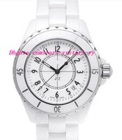 Wholesale Scratch Resistant Sapphire - Luxury Watches NEW Men's H0970 White Ceramic 38mm Automatic Day Brand NEW Scratch Resistant Sapphire Cool Mens Watches