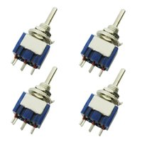 Wholesale 125v Ac Free Shipping - Free Shipping New Arrival Wholesale 4PCS Mini Toggle Switch DPDT ON-ON 3 Position Blue 6A 125V AC