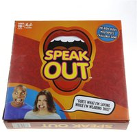 Wholesale Out Board - 2017 Hot Selling Popular Speak Out Game Board Game Interesting Party Family Game Funny Toys free shipping