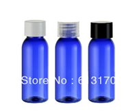 Wholesale Wholesale Blue Shower Gel - 30ml blue pet Empty lotion bottle Plastic shower gel bottles cosmetic packing container free shipping LX02