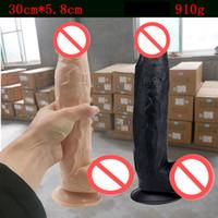 ingrosso grande grande dildo-SUPER grande Dildo Realistico Big Dong giocattolo del sesso enorme dildo grande cazzo morbido prodotto del sesso adulto per le donne