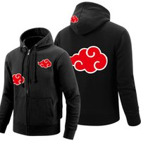 Wholesale uchiha hoodie - Wholesale-Naruto Hoodie 2016 Anime Uchiha Sasuke Cosplay Coat Uzumaki Akatsuki Naruto Jacket Winter Men Thick Zipper Sweatshirts
