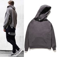Wholesale good gods - 17SS FEAR OF GOD Hooded Sweatshirt Solid Color FOG Men Women Couple Top Coats Hoodies Oversize Fashion Hip Hop Good Quality HFWY025