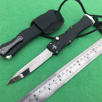 Wholesale Marfione Custom Microtech HALO IV Rev II S N D2 Mirror Polish blade material aluminum PROTOTYPE pocket knife knives W