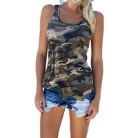 Wholesale F1 Crew Shirt - Wholesale- New 2017 Summer Shirt Women tshirts Sexy Backless Camouflage Crochet Halter Crop blusas Fitness tees Vest Shirts F1