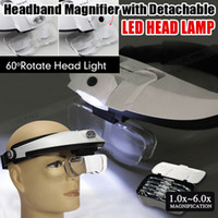 Headband Headset Head Lâmpada LED Light Jeweler Magnifier Lupa lupa
