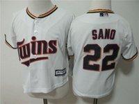 Wholesale Black Baby Twins - MLB Toddler's jerseys Minnesota Twins Baby Infant Baseball jerseys SANO#22 white 1pcs drop freeshipping