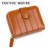 YOUYOU MOUSE Mode Coréenne Style Femmes Portefeuille PU cuir Short Wallet Femmes Solid Color Line Pattern Zipper 2 Fold Coin Purse