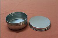 ingrosso stagno crema d'argento-Nuovo design argento alluminio contenitore 83 * 34mm portacandele barattolo di alluminio 150 ml lattine di crema di alluminio tondo crema di alluminio