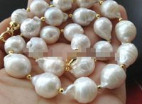 """Wholesale Australian South Sea Nuclear Pearl - """"Handmade""""HUGE 18""""13-16MM AUSTRALIAN SOUTH SEA GENUINE WHITE NUCLEAR PEARL NECKLACE"""