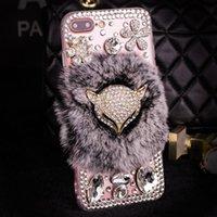 cas de gland achat en gros de-Luxe 3D Glitter Mickey Oreilles Boule De Cheveux Tassel Plush Coque Téléphone pour iPhone 7 7plus 6 6s 6plus 6s plus