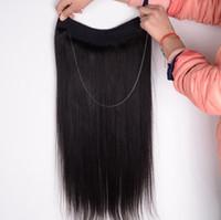 Wholesale 1b Micro Loops - Micro Loop Hair Weave Bundles 1PCS Flip Easy Fish Line #1B #2 #4#6#8100g 100% Real Hair Hair Extensions