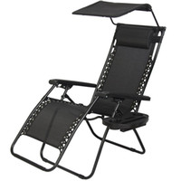 Wholesale Fabric Lounge Chairs - New 2017 Luxury Zero Gravity Chair Lounge Patio Chairs Outdoor with Canopy Cup Holder
