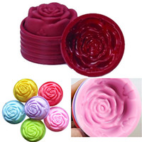 Atacado - Hot 3D Silicone Beautiful Rose Shape Fondant Cake Molds Soap Molde de chocolate para o cozimento de cozinha