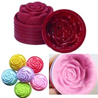 Wholesale Moulds For Chocolate - Wholesale- Hot 3D Silicone Beautiful Rose Shape Fondant Cake Molds Soap Chocolate Mould For The Kitchen Baking