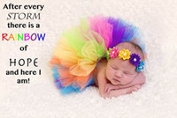 Wholesale Wholesale Handmade Baby Clothing - 2017 New Infant Clothing Set Newborn Baby Gauze Handmade TUTU Skirt With Headband Photography clothing Toddler Clothes 0-4M 1651 35 Colors