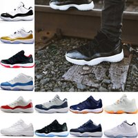 Wholesale Infrared Hunting - 2017 air retro 11 Man Basketball Shoes barons bred UNC Navy Gum legend blue Georgetown Infrared space jam Metallic Gold sneakers eur 36-47