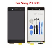 Wholesale Touch Screen Lcd Xperia - for Sony Xperia Z3 LCD Touch Digitizer Assembly with free repair tool kit 1PCS Free Epacket Perfect screen