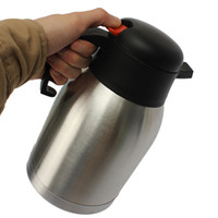 Wholesale Thermos Vacuum Pot - Wholesale- New Arrival 1.5L Home Stainless Steel Vacuum Insulated Water Bottle Thermoses Pot Jug Flask For Office Meeting Room