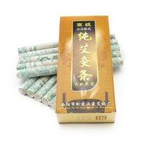 Wholesale Moxa Rolls - 10X Pure Moxa Roll Moxibustion Stick For Traditional Body Massage Therapy For Antistress Acupuncture & Relieving Pain