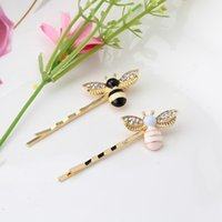 Wholesale Style Hair For Girl - Cute Girls Crystal Wings Bees Hair Jewelry Animal Styles Hairpins Hair Clips for Women's Hair Accessories Barrettes