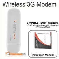 Wholesale Modem Adapter Sim - Wholesale- High Quality 7.2Mbps 3G HSDPA 7627 WCDMA SIM USB2.0 Wireless Modem Unlocked WLAN USB Network Card Adapter