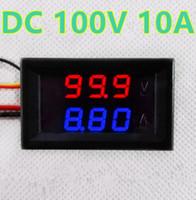 Wholesale digital dc amp meter display resale online - 0 quot Blue Red Dual LED Display Digital Panel Amp Volt Current Meter Tester Voltmeter AmmeterDC V A