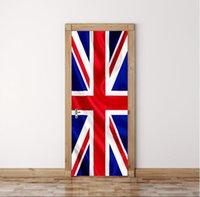 ingrosso bandiere diy-3D DIY Union Flag 77cm * 200cm Porta adesivi in PVC / Adesivi e adesivi murali rimovibili Adesivo Murale Art Home Decor