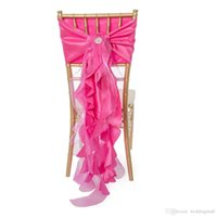 Wholesale Cheap Chair Covers For Weddings - Link For Custom Made Chiffon Organza Taffeta Ruffles Chair Sashes Romantic Vintage Beautiful Chair Covers Cheap Wedding Supplies
