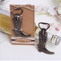Wholesale Hitch Wholesale - Creative Bottle Opener Hitched Cowboy Boot Western Birthday Bridal Wedding Favors And Gifts Party Cute Tool