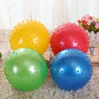rebotes inflables al por mayor-50pcs 20cm Kid bola de salto de masaje inflable Niños Cuidado de la salud Material de PVC pelotas que balancean Balance gym Ball