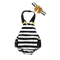 Ruffled Baby Girl одежда Sunsuit Romper Toddler Baby Girls Clothing Set Kids комбинезон Хлопок Полосатый Bubble Rompers с заставкой