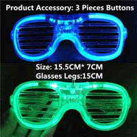 Electron Music DJ Luminous Glasses Party LED Shutter Glow Light Shades Luce Flash Glasses Christmas Favors Birthday Festival NewYear