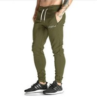 Wholesale Wholesaler Mens Cotton Pant - Wholesale-2016 new Gold Medal Fitness pants, stretch cotton mens fitness pants pants body engineers weightlifting field fitnes