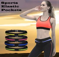 Textile blue entertainment sports - Professional Running Sport Waist Bag for Mobile Phone New Arrived Unisex Gym Bags Running Waist Belt Sports Entertainment Accessories