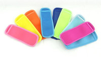 Wholesale Drunk Party - 18x6cm Ice Sleeves Freezer Popsicle Sleeves Pop Stick Holders Ice Cream Tubs Party Drink Holders DHL Free Shipping