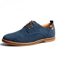 Wholesale New Oxford Mens Shoes - Lowest Price ! New Mens Casual Dress Formal Oxfords Shoes Wing Top Suede Leather Flats Lace Up Big Size British Fashion Party Dress Shoes