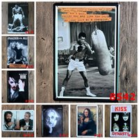 Wholesale Ali Posters - Retro Europe Star Celebrity Tin Poster Einstein Mona Lisa Boxing Champion Of Ali Iron Painting 20*30cm Metal Tin Sign Crafts Gifts 4rjn
