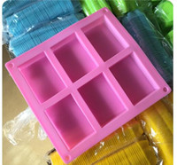 Wholesale Square Baking Moulds - 6 square Silicone Baking Mold Cake Pan Molds Handmade Biscuit Mold Soap mold mould