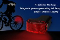 Wholesale Magnetic Flashing Led - 2017 Magnetic self-generating mountain bike rear tail light night riding taillight safety warning light cycling flash without battery