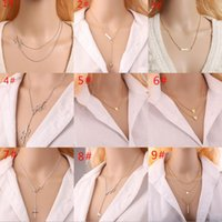 22 Design Femmes Lady Fashion Bar Charm Gold Silver Chains Statement Colliers Fatima Hand Choker Vintage Collier Collier Bijoux Cadeau