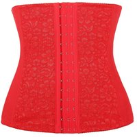 Wholesale Christmas Corset For Women - Plus Size Steel Boned Lace Waist Trainer Corset for Weight Loss Sport Body Shaper 70522 Tummy Fat Burner S-6XL Christmas Gifts for Women