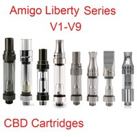 Wholesale Ego V9 - 100% Original Amigo Itsuwa Liberty V3 CBD Ceramic Cartridge Adjust intake hole Liberty V V5 V9 asjustable aireflow tank fit Ego 510 battery