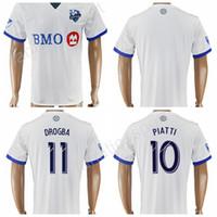 Wholesale Man Tshirt Color - 2017 2018 Montreal Impact Jersey Soccer 10 PIATTI 11 DROGBA Football Shirt Uniform Kits Foot Tshirt Customized Team Color Blue Thai Quality